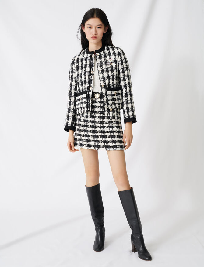 Kurze Jacke im Tweed-Stil - Blazers - MAJE