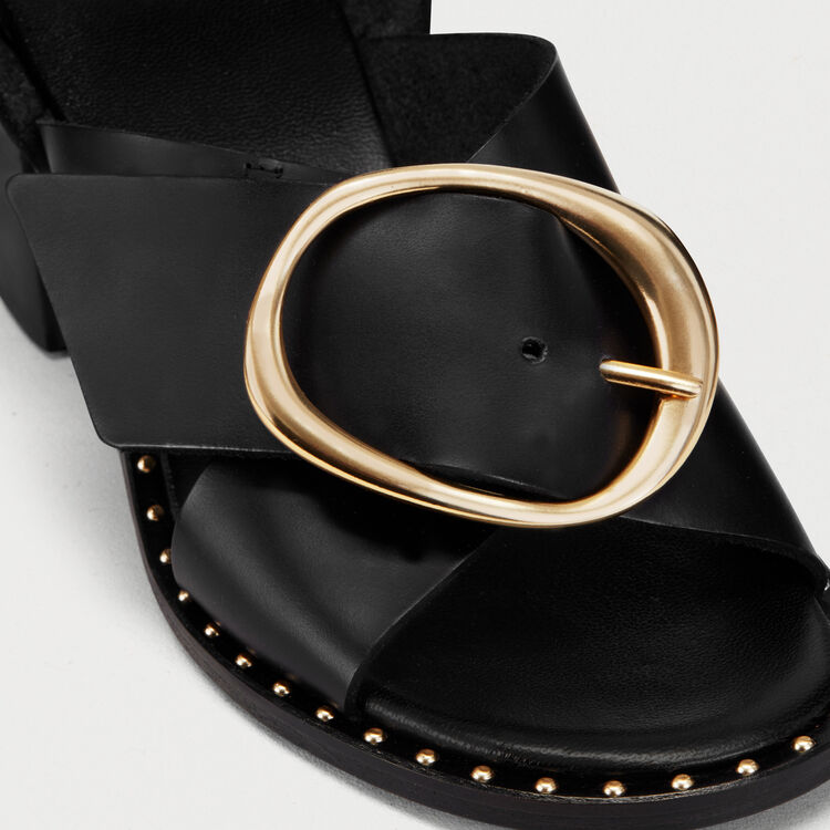 Sandal with buckle : Schuhe farbe Schwarz