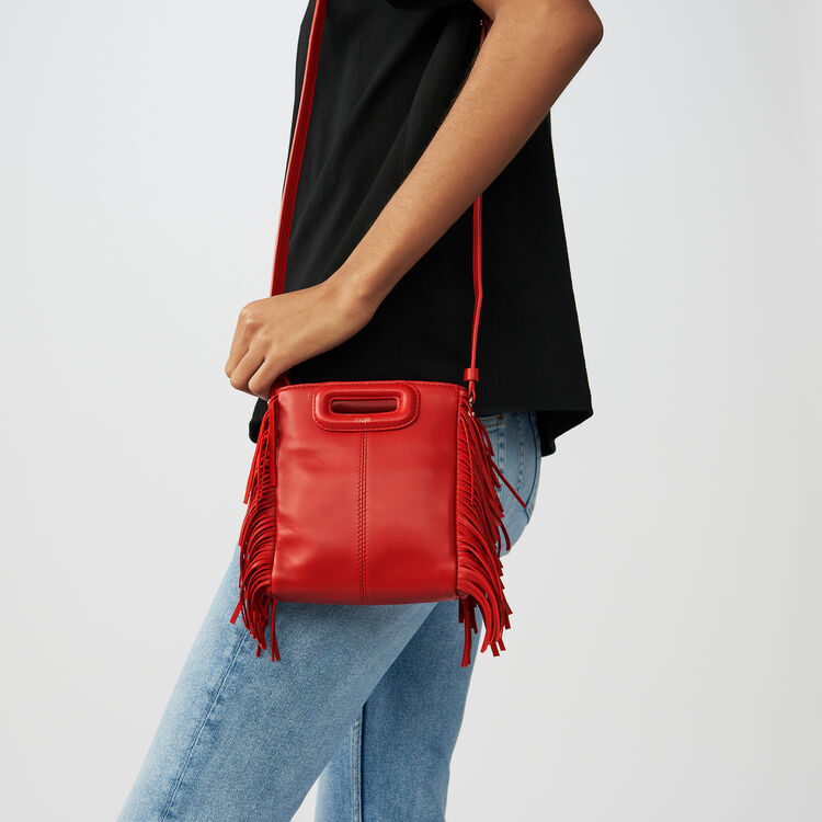 M-Minitasche mit Lederfransen : Special occasion farbe RED