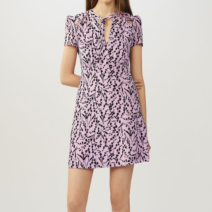 Bedrucktes Seidenkleid : Kleider farbe IMPRIME