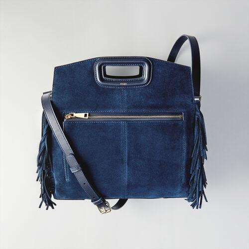 M Walk Tasche aus Velour : Totes & M Walk farbe Marineblau
