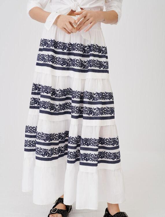 Vollständig bestickter Petticoat - Röcke & Shorts - MAJE