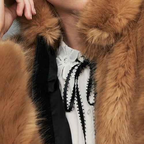 Kurze Kunstfelljacke : Jacken farbe Camel