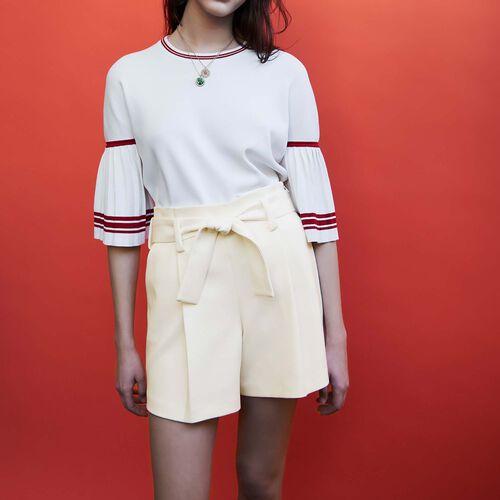 High waisted short : Röcke & Shorts farbe Weiss
