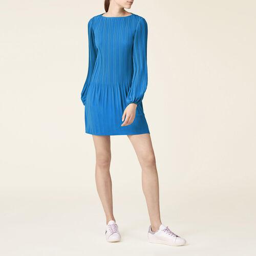Plissiertes Kleid : Robes farbe Schwarz