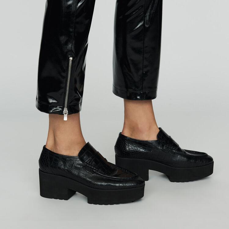 Skinny-Hose aus Skai : Bekleidung farbe Schwarz