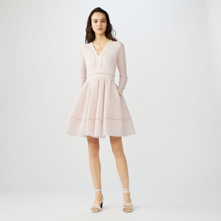 Skaterkleid aus Spitze : Kleider farbe Fleisch