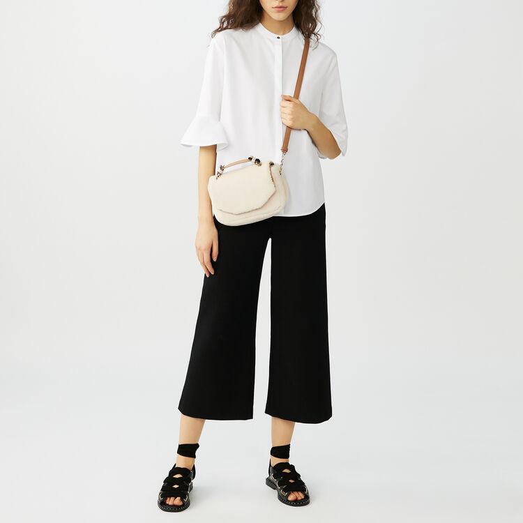 Oversize-Hemd aus Popeline : Hemden farbe Weiss