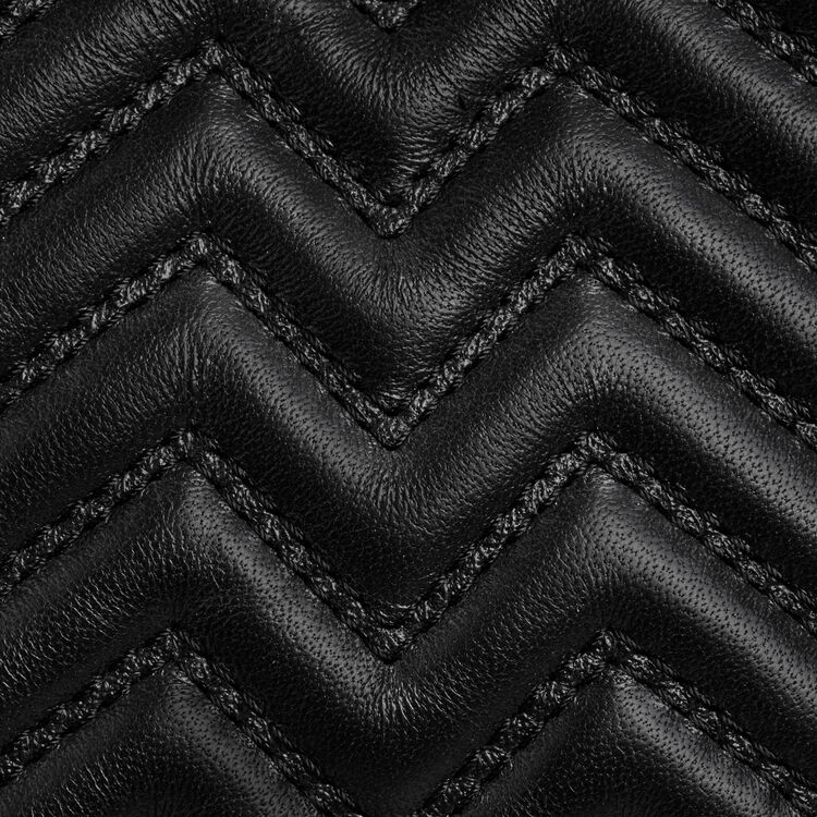 Mini M Tasche aus gestepptem Leder : M Mini farbe Schwarz