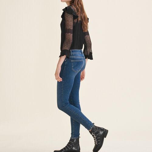 Verwaschene Slim-Jeans : Jeans farbe Blau