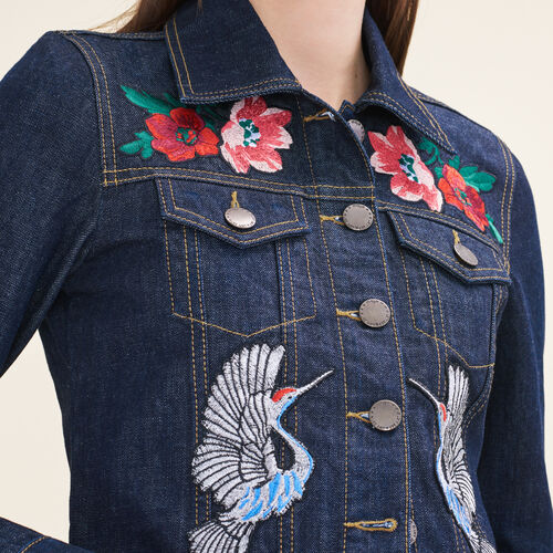 Jeansjacke mit Aufnähern - Jacken - MAJE