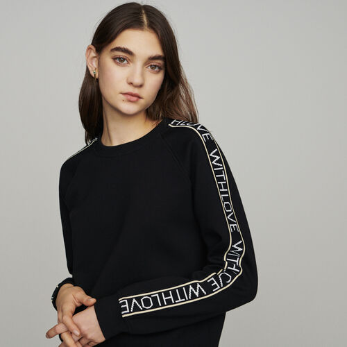 "Sweat ""With Love"" on sleeves : Pullover & Strickjacken farbe Schwarz"