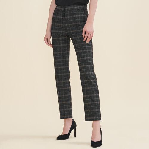 Zigarettenhose aus Tartan : Pantalons & Jeans farbe Jacquard