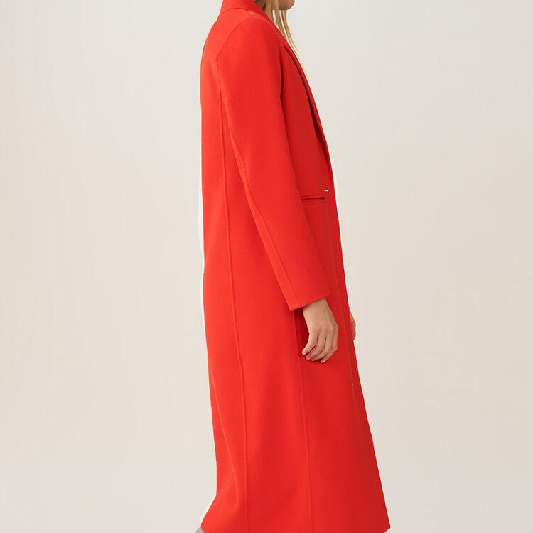Doppelseitiger langer Mantel : Mäntel farbe Orange