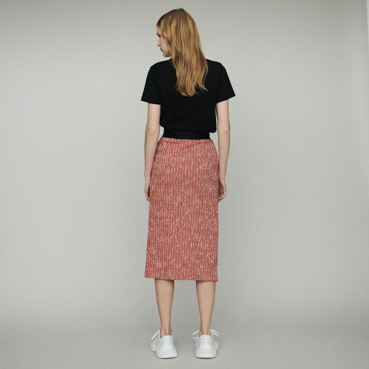 Halblanger Rock mit Tweed-Effekt : Röcke & Shorts farbe Rot