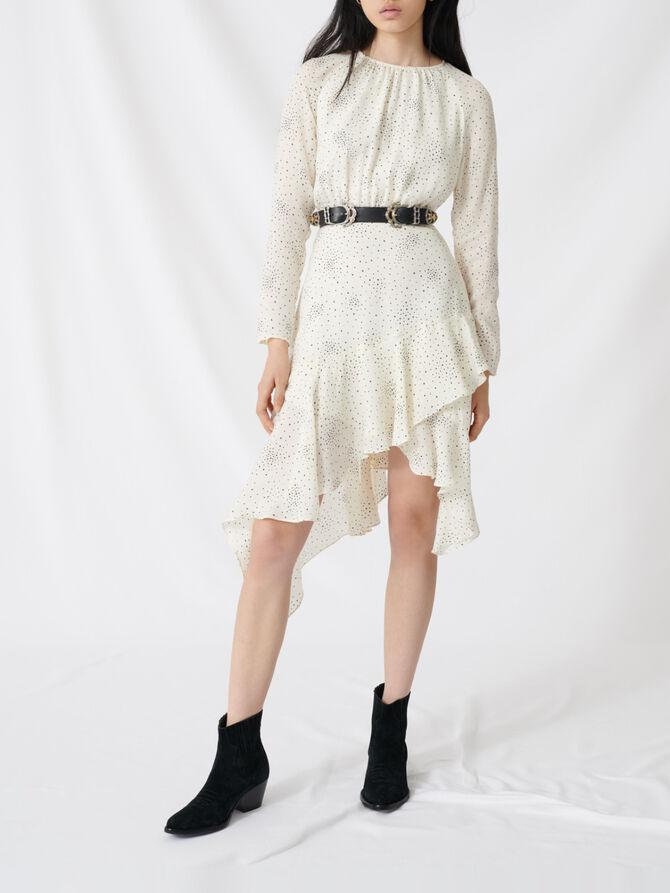 Fließendes und asymmetrisches Kleid - Kleider - MAJE