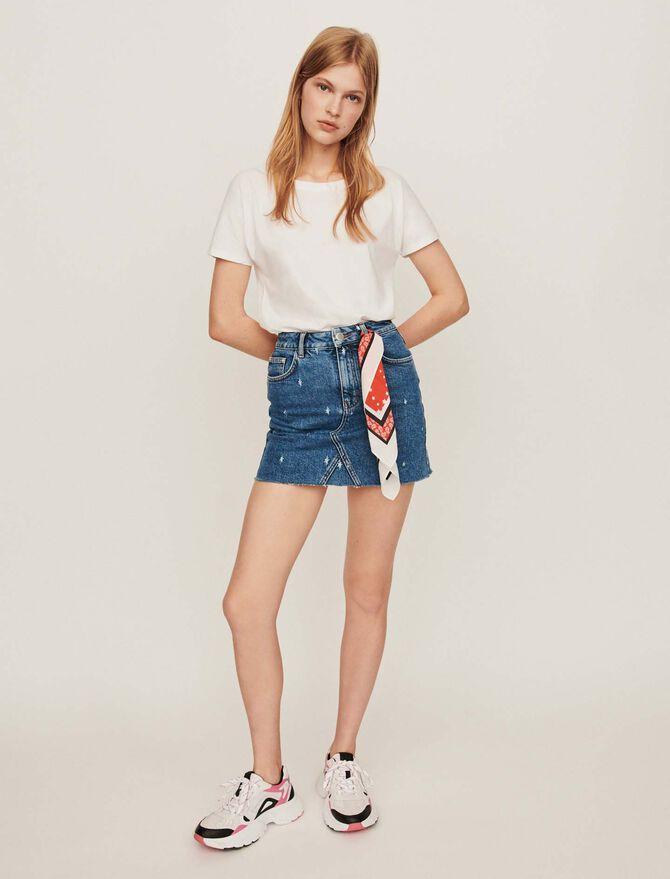 Gerader ausgewaschener Jeansrock - Röcke & Shorts - MAJE