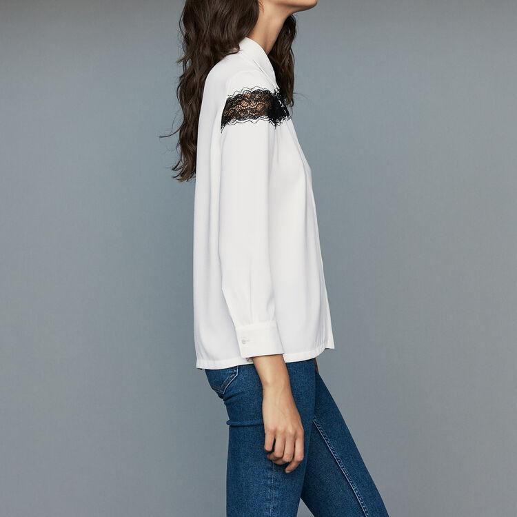 Bluse mit Spitze : Neue Kollektion farbe Ecru