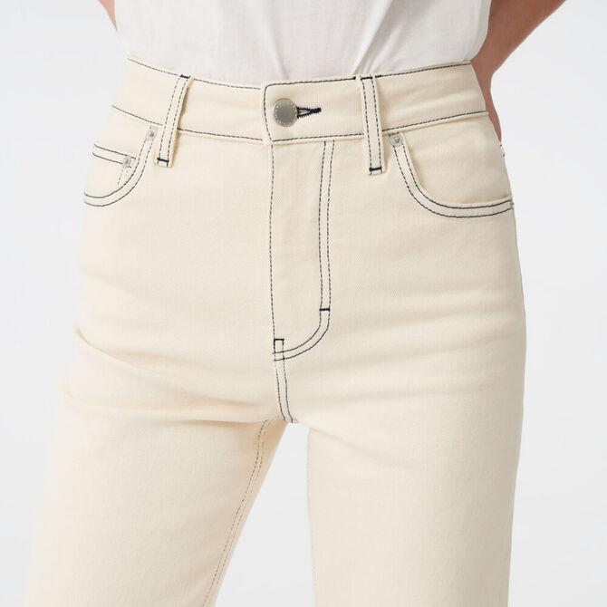 Gerade Jeans mit gesteppten Nähten -  - MAJE