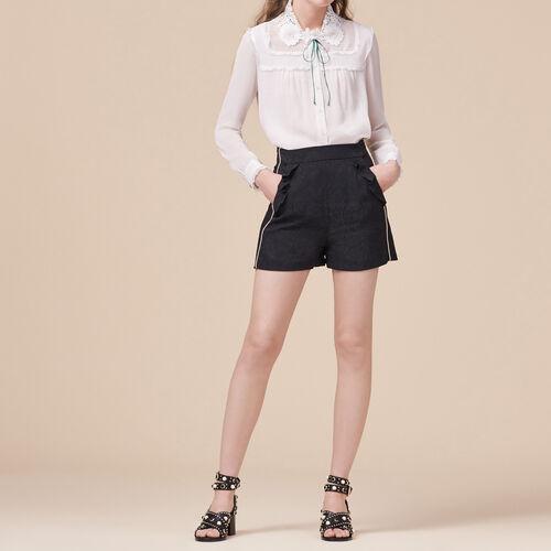 Shorts mit Brokat-Print : Röcke und Shorts farbe Schwarz