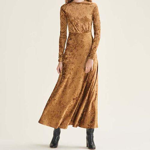 Langes Kleid aus Velours - Kleider - MAJE
