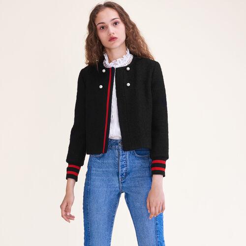 Kurze Jacke aus Tweed : Blousons & Vestes farbe Schwarz