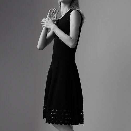 Kleid aus Ajourstrick : Kleider farbe ROUGE