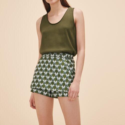 Rockshorts aus Jacquard : Röcke und Shorts farbe Jacquard