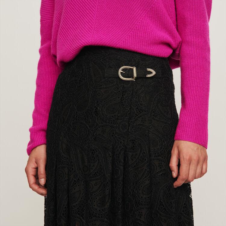 Guipure Rock mit Kaschmir Motiven : Röcke & Shorts farbe Schwarz