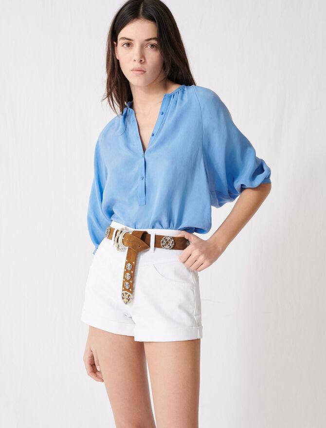 Jeansshorts mit Gürtel - Röcke & Shorts - MAJE