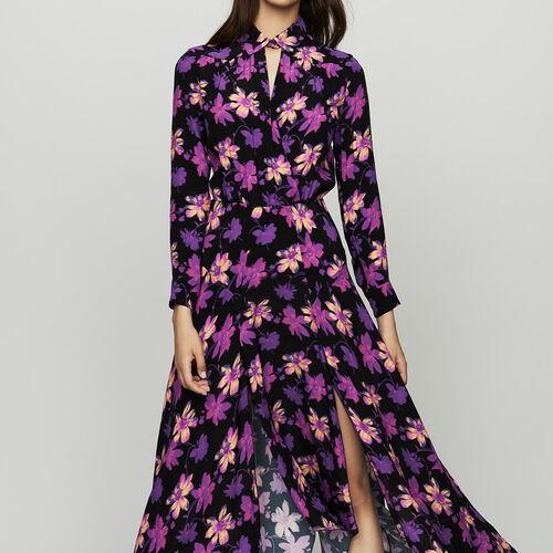 Asymmetrisches Kleid mit floralem Print : null farbe Print