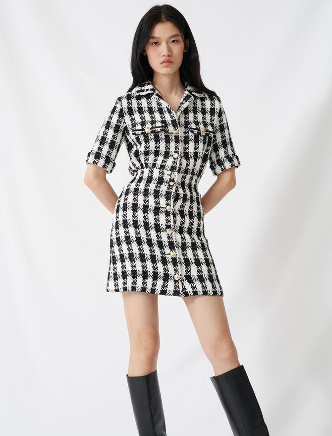Kurzes Kleid im Tweed-Stil - Kleider - MAJE