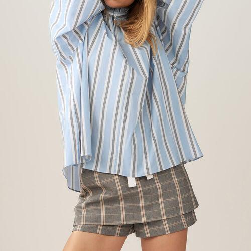 Gestreifte bluse mit rüschen - Pre-Kollektion - MAJE
