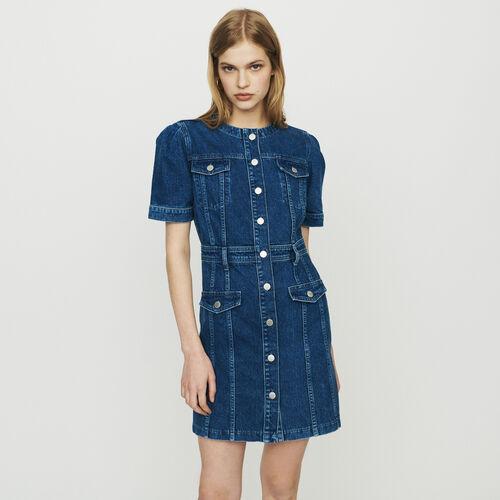 Jeanskleid : Kleider farbe Denim