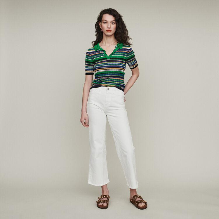 Strickpolo mit Streifen : Pullover & Strickjacken farbe Mehrfarbigen