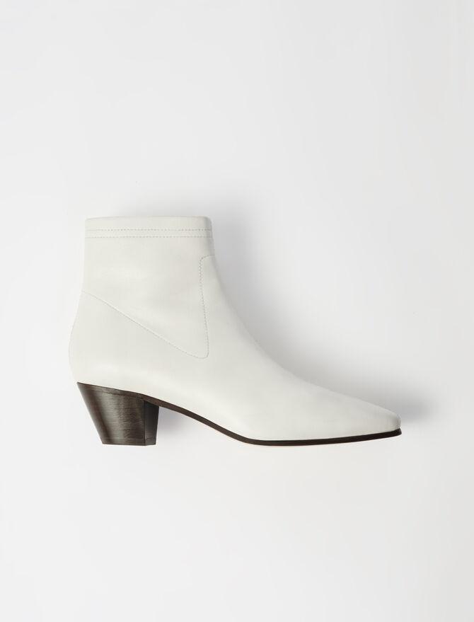 Sock Boots aus Leder -  - MAJE
