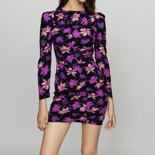 Drapiertes Kleid mit floralem Print : Diese woche farbe Print