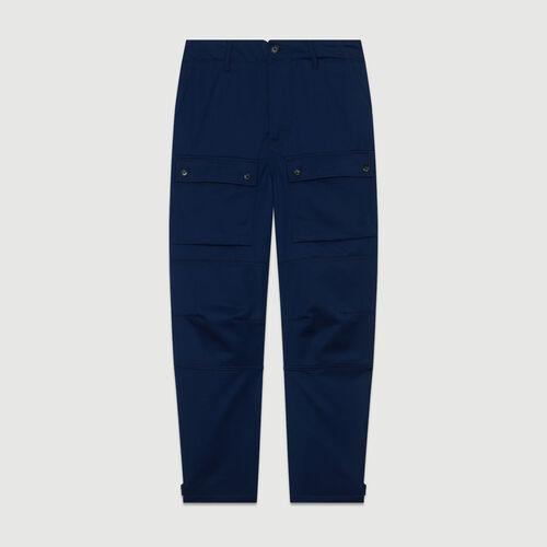 Breite Hose im Arbeiter-Look : Alles einsehen farbe Blau