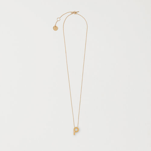 Collier mit Initialen-Anhänger : Accessoires farbe OR