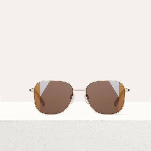 Sonnenbrille aus Metall : Brillen farbe Mehrfarbigen