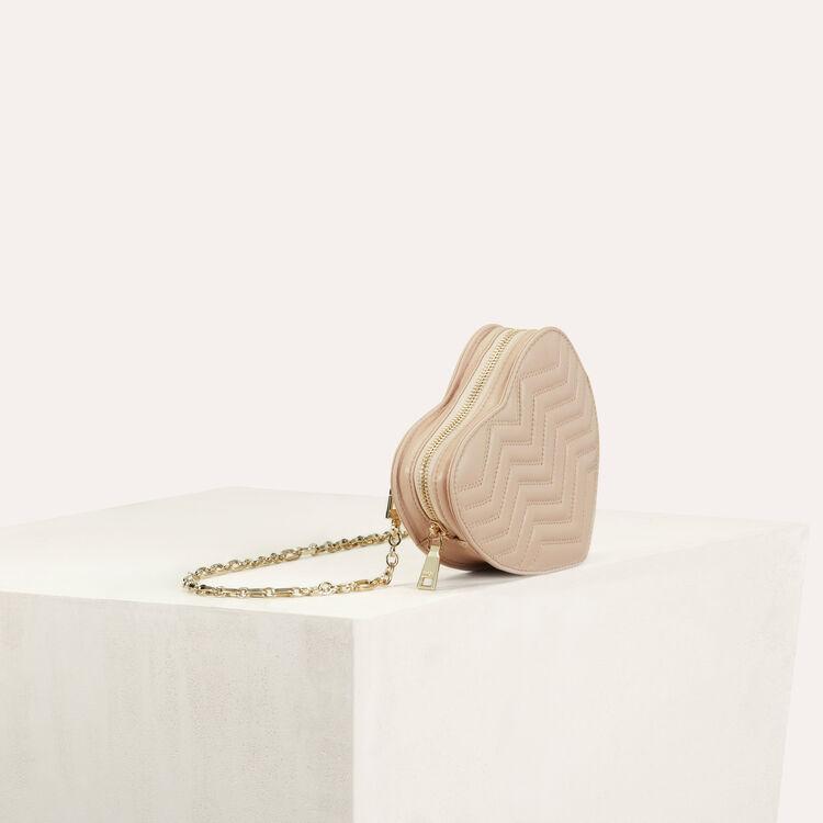 Herztasche aus gepolstertem Leder : Bags farbe Fleisch