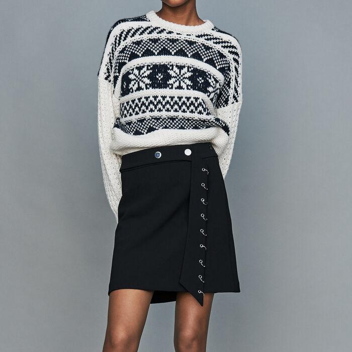 Pullover aus Jacquard-Strick : Strickwaren farbe ECRU