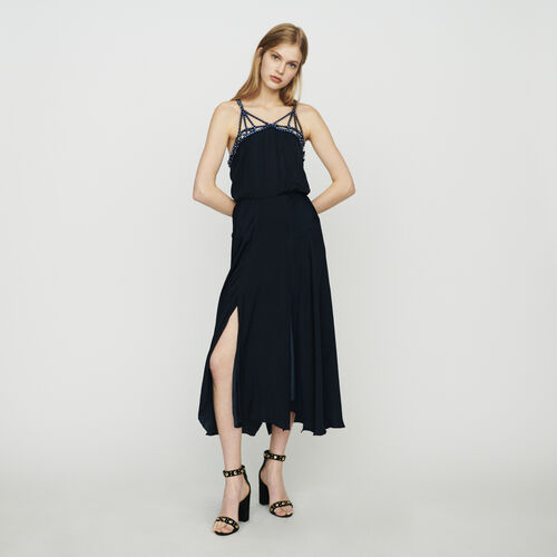 Strasskleid : Kleider farbe Marineblau