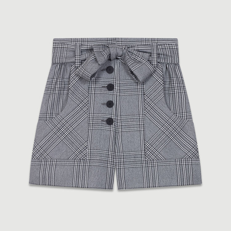Short mit Prince-of-Wales-Print : Röcke & Shorts farbe CARREAUX