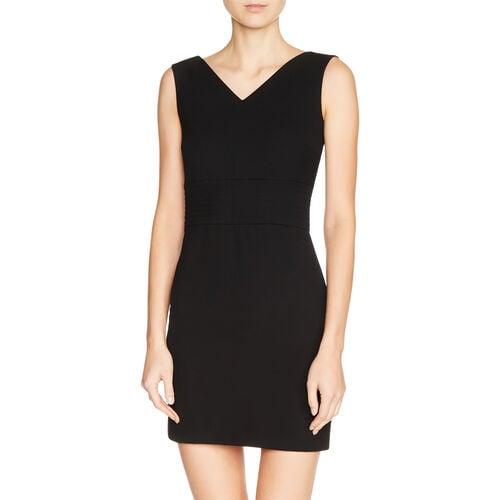 Ärmelloses Kleid aus Krepp : Kleider farbe Schwarz
