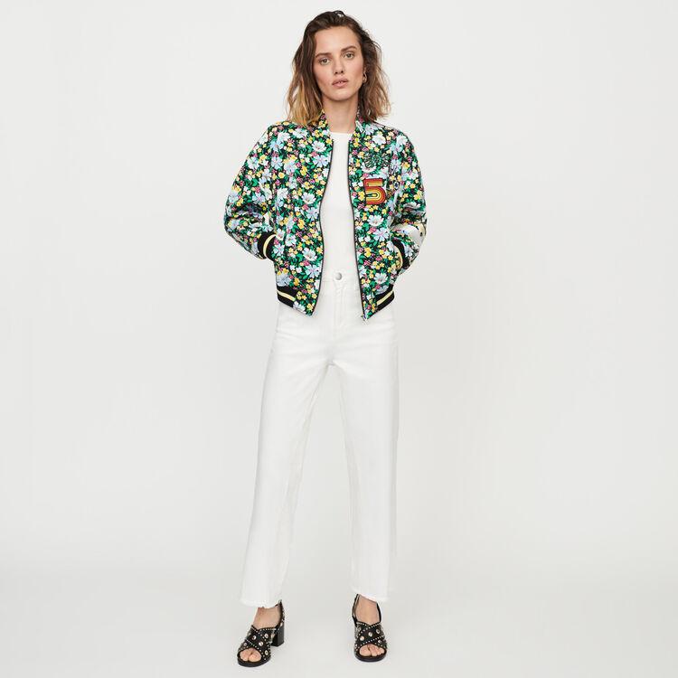 Blouson mit Blumen Print : Mäntel & Jacken farbe IMPRIME