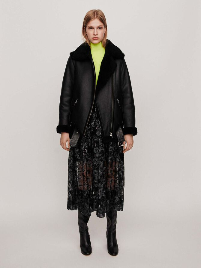 Leather jacket - Mäntel & Jacken - MAJE