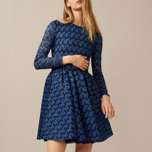 Kleid aus verklebter Spitze : null farbe Mehrfarbigen