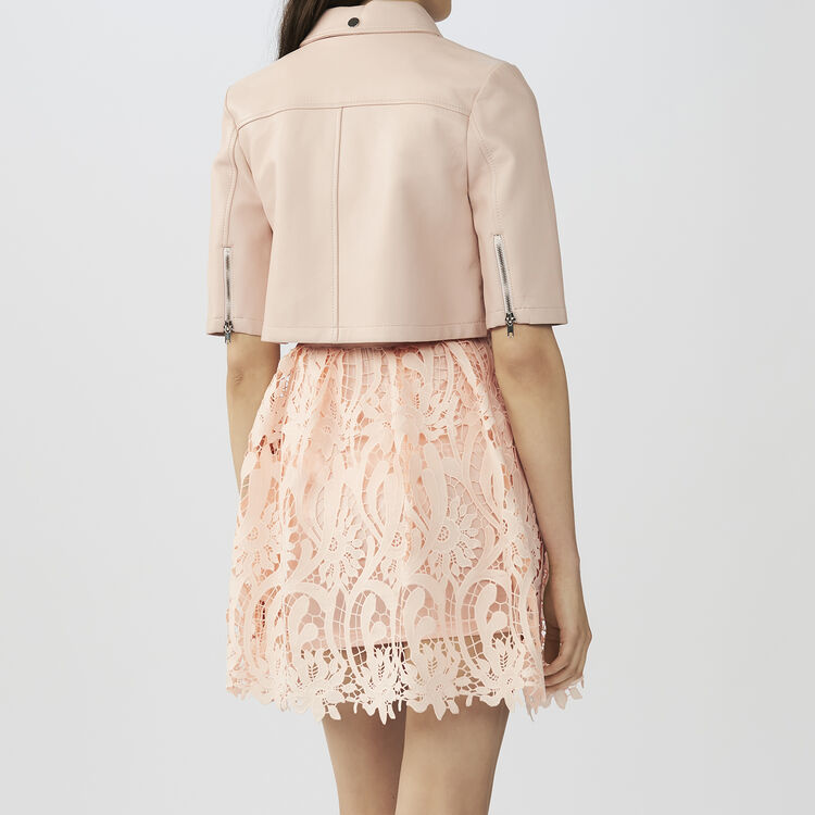Mini-Lederjacke : Alles einsehen farbe Rosa