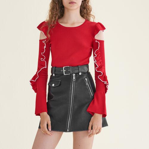 Strickpullover mit freien Schultern : Pulls & Cardigans farbe Rot